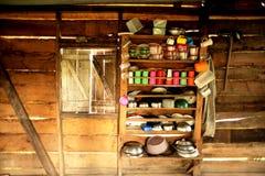 Ein Küchen-Innenraum in Mittelamerika stockfoto