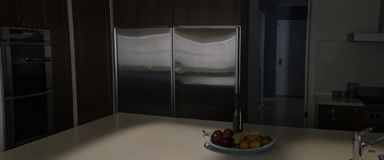 Ein Küchenentwurf, der faszinierender und überraschend ist lizenzfreies stockfoto