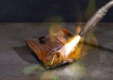 Ein Kühlelement oben erhitzen stockfotografie