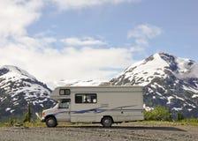 Ein kühler Campingplatz Stockbild