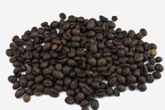Ein Kaffeestapel auf einem weißen Hintergrund Über Weiß Isolator auf weißem Hintergrund Jeder liebt Kaffee Morgen mit Kaffee stockfoto