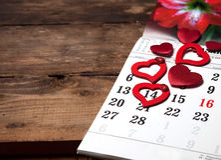 Ein Kalender Stockbild