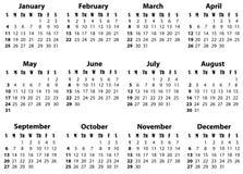 Ein Kalender für 2009 und 2020 Stockfotos
