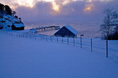 Ein kalter Januar-Nachmittag Lizenzfreie Stockbilder