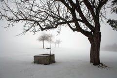 Ein kalter Tag des Winters im Bayern Lizenzfreies Stockbild