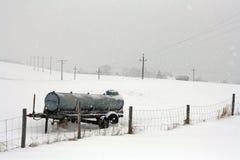 Ein kalter Tag des Winters im Bayern Stockfotografie