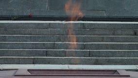 Ein Kamin vor einem Erinnerungsobelisken stock video footage
