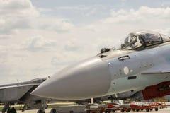 Ein Kampfflugzeug auf Start Lizenzfreie Stockbilder