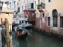 Ein Kanal in Venedig Stockbild