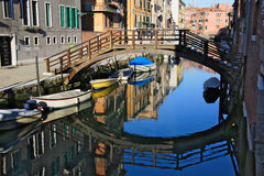 Ein Kanal von Venedig Stockbild