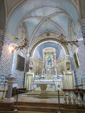 Ein Karem, Israel July 16, 2015 r : Kyrka John The Baptist t Arkivfoto