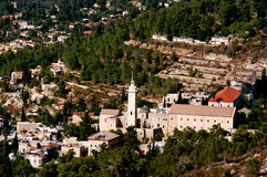 Ein Karem Village in Jerusalem. Aerial view of Ein Karem Village in Jerusalem, Israel Royalty Free Stock Photography