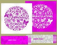 ein Kartenstapel für Glückwünsche und Einladungen im Stil des children& x27; s-Gekritzel Lizenzfreies Stockfoto