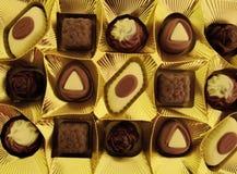 Ein Kasten Schokoladen als Geschenk Lizenzfreies Stockfoto
