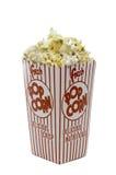 Ein Kasten Theaterpopcorn lizenzfreies stockbild