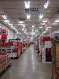 Ein Kaufhaus verziert für Weihnachtsprodukte Lizenzfreies Stockbild