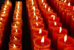Ein Kerzenlicht stockfotografie