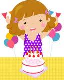 Ein Kind auf einem Geburtstag vektor abbildung