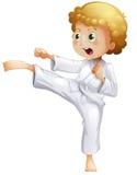 Ein Kind, das Karate tut vektor abbildung