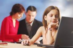 Ein Kind in der Arbeit Stockfotos