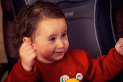 Ein Kind, ein kleines Mädchen stockbild