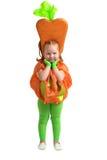 Ein Kind im Gemüsekostüm Stockbild