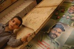 Ein Kind im palästinensischen Lager stockfoto