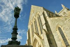 Ein Kirchenblick heraus in Bermuda lizenzfreie stockbilder