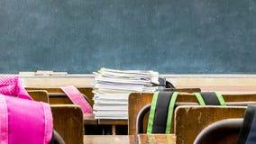 Ein Klassenzimmer, Bücher stockfotografie