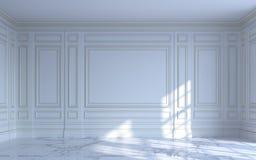 Ein klassischer Innenraum ist in den hellen Tönen Wiedergabe 3d Lizenzfreie Stockfotografie