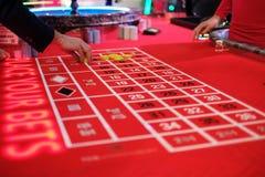 Ein klassisches Kasinoroulettespiel Lizenzfreies Stockfoto