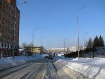 Ein kleiner Bezirk in einer der russischen Städte Stockfoto