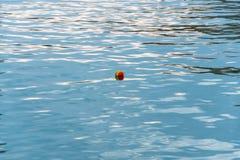 Ein kleiner farbiger Ball im Wasser Lizenzfreie Stockbilder