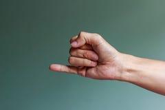 Ein kleiner Finger Stockfoto