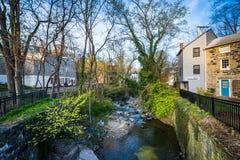 Ein kleiner Nebenfluss in Ellicott-Stadt, Maryland Stockfotografie