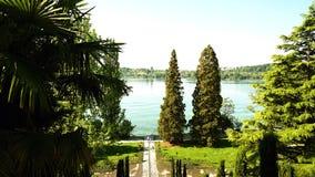 Ein kleiner See im Park Stockbild