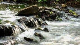 Ein kleiner Wasserfall im Wald; Lizenzfreies Stockbild