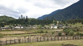 Ein kleines Dorf in Xizang Stockbild