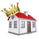 Ein kleines Haus mit einer Krone Lizenzfreie Stockfotografie