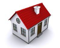 Ein kleines Haus mit rotem Dach Lizenzfreie Stockfotos