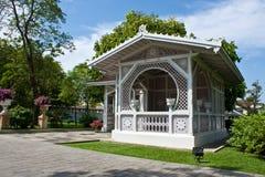 Ein kleines Haus am Palast in Ayutthaya Stockfotos