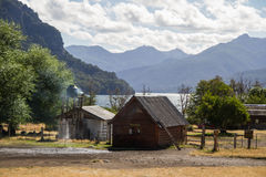 Ein kleines patagonian Häuschen Lizenzfreies Stockfoto
