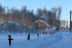 Ein kleines russisches Dorf Stockfoto