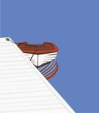 Ein kleines Schlauchboot Lizenzfreies Stockbild