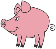 Ein kleines Schweinprofil Stockfotografie