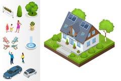 Ein kompaktes Öko-Haus stock abbildung