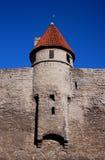 Ein Kontrollturm der mittelalterlichen Stadt Tallinn Lizenzfreies Stockfoto