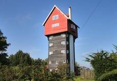 Ein Kontrollturm-Haus in landwirtschaftlichem England Stockfotografie