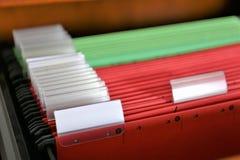 Ein Konzept Bild einer bunten Registermappe mit Kopienraum lizenzfreie stockbilder