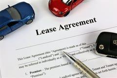 Ein Konzept Bild eines Leasingvertrags lizenzfreie stockfotos